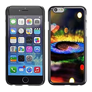 KOKO CASE / Apple Iphone 6 / peacock feather colorful bright bling shiny / Slim Black Plastic Case Cover Shell Armor