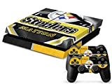 258stickers® Playstation 4 Console Skin & Remote Controllers Skin - NFL American National Football League Team New Jersey - Established 1933 Pittsburgh Steelers