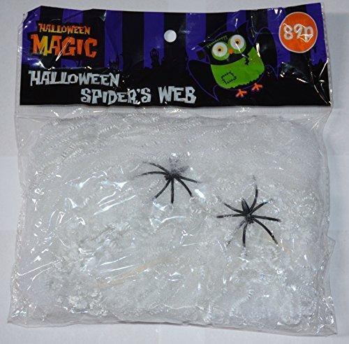 Spider Web Streachable white Spiders