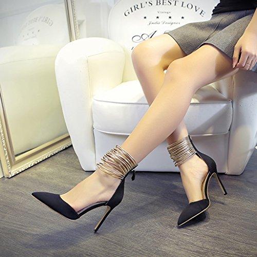 Sposa Tacchi Scarpe Electronic color Sexy Spillo Da 5cm 5cm Sandali Business Donna 34 8 Fang 8 Banchetto Black Size A Cheng Chi xwOpq