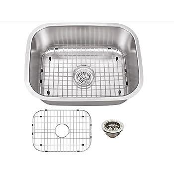 Schon Scsbl18 Undermount 18 Gauge Single Bowl Sink 23 7 16
