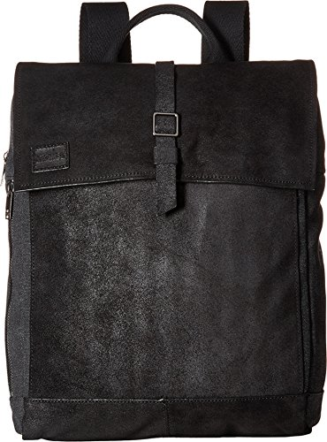 TOMS Unisex Canvas Leather Backpack Black Backpack