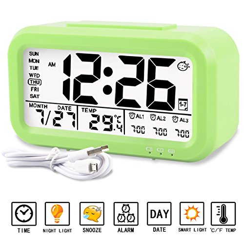 Alarm clock, Aitey Digital Alarm Clock for kids, Time/Date/T