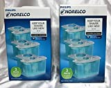 2 Pack – Philips Norelco JC303/52 Smartclean Replacement Cartridges for Shaver Series 9000 (6 Cartridges in All)