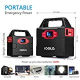 Coolis 151Wh Powerhouse Portable Power Inverter Generator, with Silent 110V AC x 2 / 12V DC x 3 / USB x 2 Output, 40800mAh Ion Lithium Battery