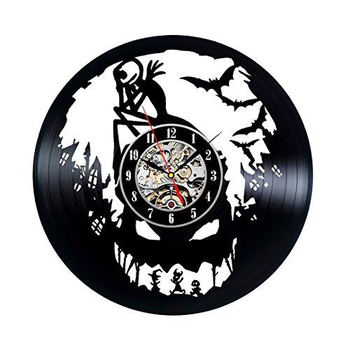 (Nightmare Before Christmas Vinyl Wall Clock Vintage Gift)