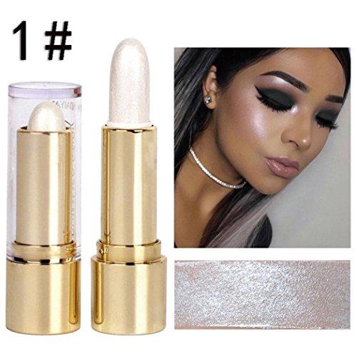 Vanvler Highlighter Stick Makeup Liquid 3 Colors Face Concealer Pen Dark Circles Cream 3D (1#)