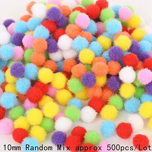 10 15 20 25 30Mm Mixed Soft Round Pompom Ball Plush Pom Poms for Wedding Decoration Kid DIY Toys Handcraft