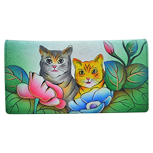 Anna by Anuschka Clutch Wallet | Genuine Leather | Two Cats