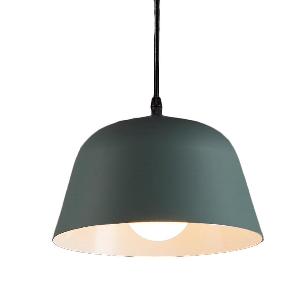 Adjustable Nordic Corridor Aluminum Craft Chandelier Individual Head, E27 Specification Lampholder Restaurant Aisle Lights 25 17cm Suspension Line 200cm (Color : Green)