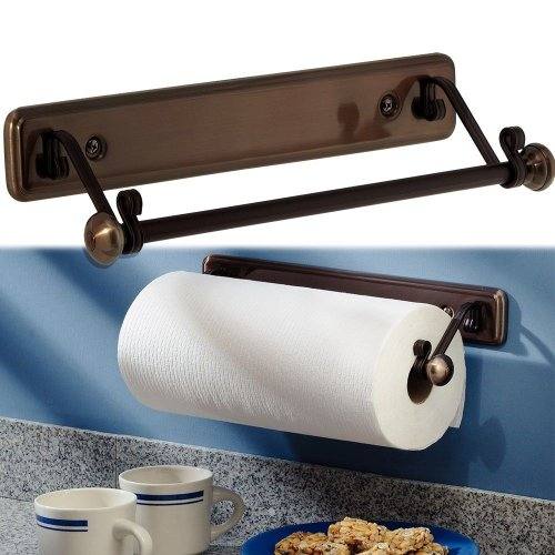 New York Kitchen Wall-Mount Paper Towel Holder, Oil Rubbed Bronze