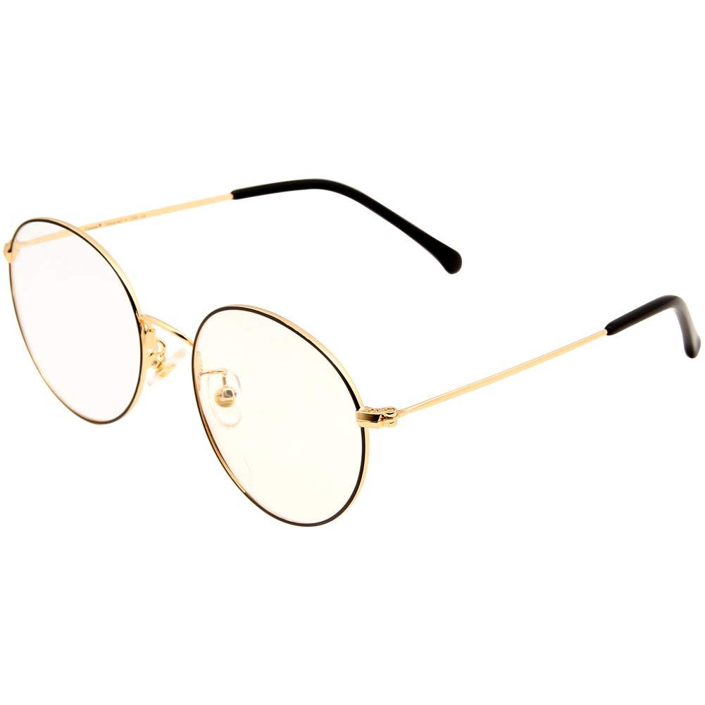 Gafas redondas de metal doradas. Buena calidad y opción de otros diseños.