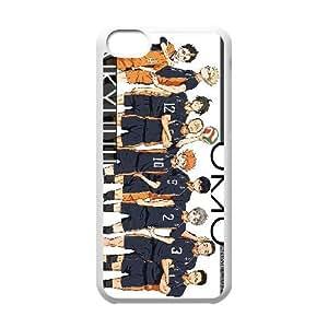 Haikyuu !! caso funda de teléfono celular iPhone 5C plástico funda funda caja del teléfono celular blanco cubre ALILIZHIA06565