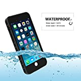 iPhone 7 & iPhone 8 Waterproof Case, Besinpo Underwater 6.6ft 30 minutes Full Body cases, military grade protective cover (4.7 inch Only,Black)