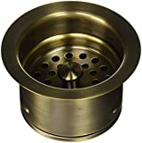 Jaclo 2833-AB Extra Deep Disposal Flange with Strainer, Antique Brass