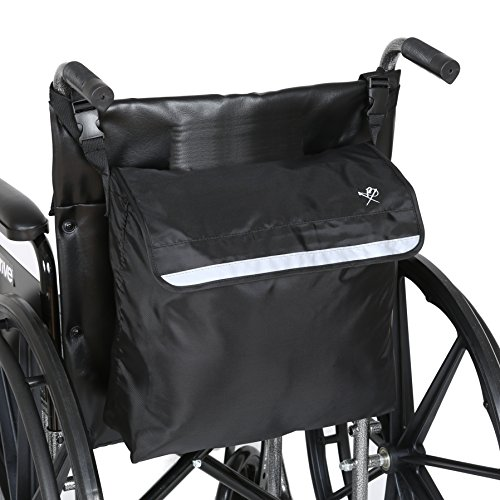 - Pembrook Wheelchair Backpack Bag - Black - Great accessory pack for your mobility devices. Fits most Scooters, Walkers, Rollators - Manual, Powered or Electric Wheelchairs