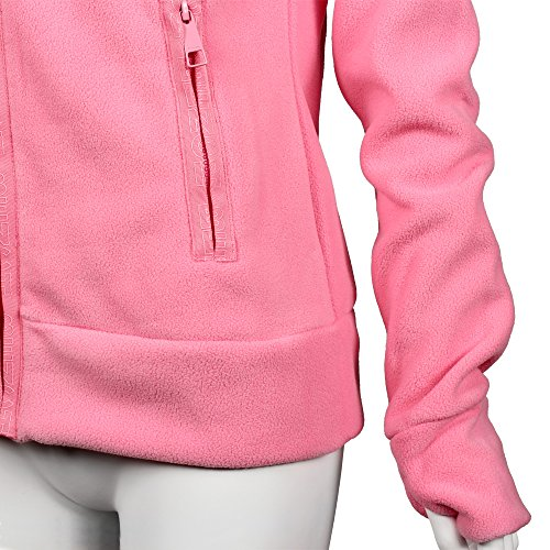 Di Pantone Strawberry Pile Donna Fleece Funnel Pink Giacca Bench YqExFwA