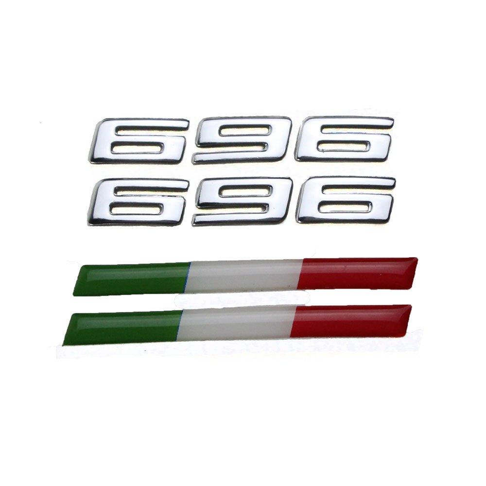 PRO-KODASKIN Motorcycle Universal 3D Raise Emblem Sticker Decal for Italy Ducati Monster 696