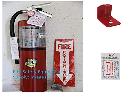 Fire Extinguisher, 4A:80B:C, 10 lb., 21in.H ()