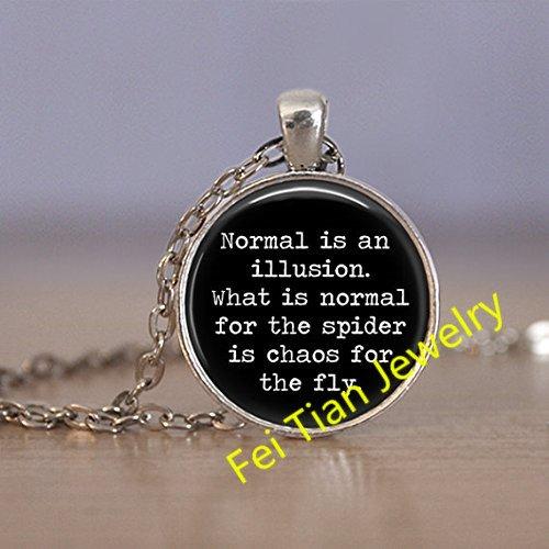 Normal illusion pendant necklace Morticia product image