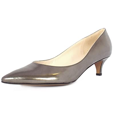 bb93245f18 Peter Kaiser Rona Classic Kitten Heel Court Shoes In Metallic Pewter  Leather 9 PEWTER