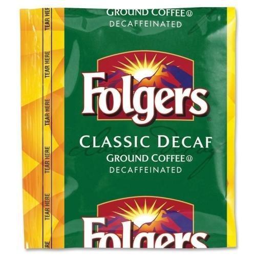 - Folgers Folgers Classic Roast, Decaffeinated, 1.5 oz., 42BG,CT (06433)