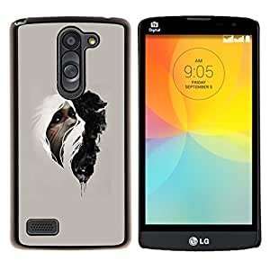 LECELL--Funda protectora / Cubierta / Piel For LG L Bello L Prime -- Mujer & Wolf --