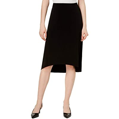 Alfani Womens Faux Wrap Hi-Low Straight Skirt at Amazon Women's Clothing store