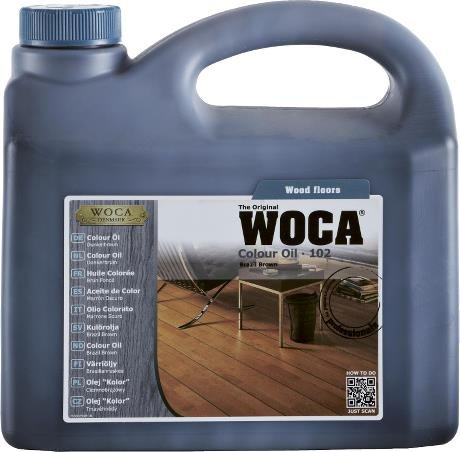 WOCA Color Oil 102 Brazil Brown 2.5 Liter by WOCA (Image #2)