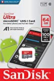 SanDisk 64GB Ultra MicroSDXC UHS-I Memory Card with