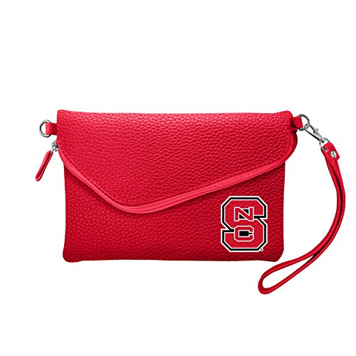 NCAA NC State Wolfpack Pebble Fold Over Crossbody Purse