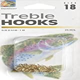 Danielson Treble MB Hook, Gold, Size 18, Pack of 25