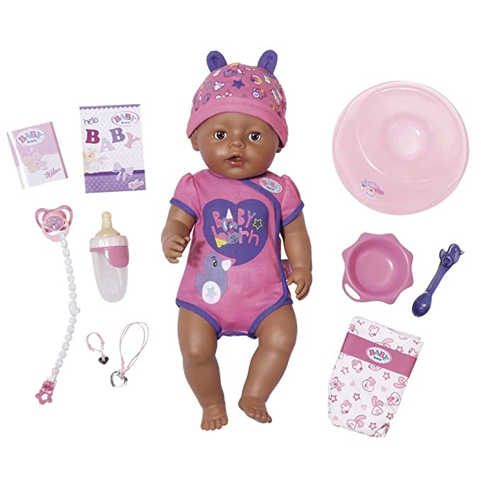 Baby Born - Baby Born Niña Color Morado (Bandai 822029)