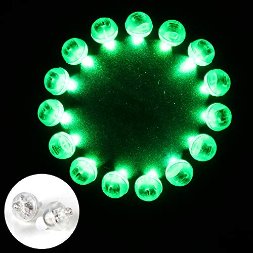 (Accmor 100pcs LED Mini Round Ball Balloon Lights, Long Standby Time Ball Lights for Paper Lantern Balloon Party Wedding Decoration(Green) for St Patrick's Day)