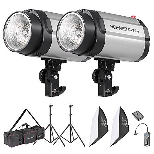 Neewer 600W Photo Studio Monolight Strobe Flash Light Softbox Lighting Kit with Carrying Bag for Video Shooting,Location and Portrait Photography(300DI) from Neewer
