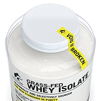 Verum Labs Grass Fed Whey Protein Isolate Undenatured and Cold-Processed, 0g Fat, 1g Carbs, Non-GMO, Gluten and Soy Free