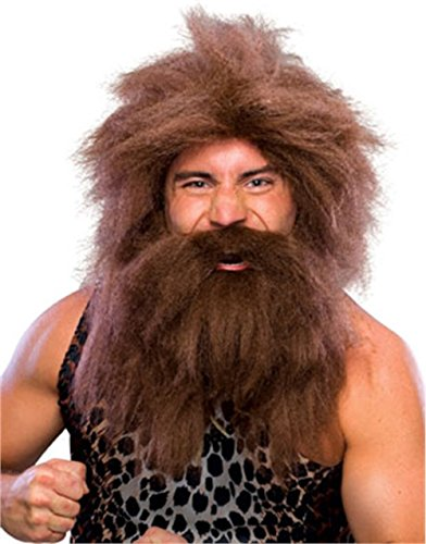 Rubie's Costume Characters Caveman Beard And Set Wig, Brown, One (Man Costumes Set)