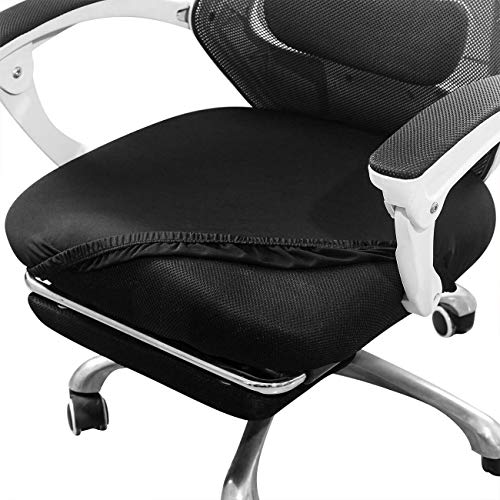Aonepro Chair Seat Covers, 21in Stretch Spandex Dining Chair Cover Slipcovers, Office Chair Protectors for 21 inch Seat - 4 Pcs Black