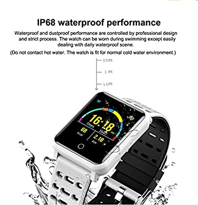 Smart Watches, IP68 Waterproof Sports Fitness Tracker with Heart Rate Blood Pressure Monitor for Fathers Day Men Women Kids Gifts Pedometer Wearable Smartwatch Wrist Watch for Running