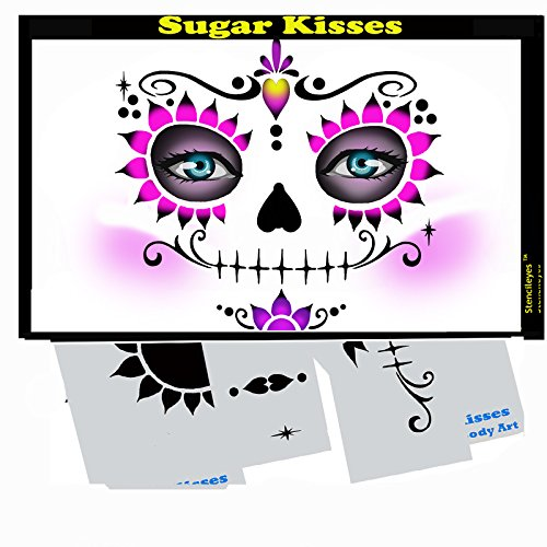 Face Painting Stencil - StencilEyes Sugar Kisses