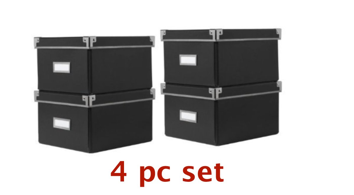 Ikea Cd Aufbewahrung ikea kassett cd dvd aufbewahrung boxen 4er set schwarz 16 x 26 x