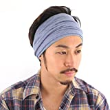 CHARM Neck Warmer for Women and Men - Warm Organic Cotton Headbands Made in Japan Ear Beanie Head Band Purple