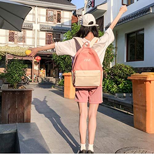 Mochila Dos Libre Costura Capacidad Colores Aire Bolsa Mochila Mochila de Las de de de señoras al Gran múltiples de de Estudiante D Viaje de Lona usos 5wHqI1I