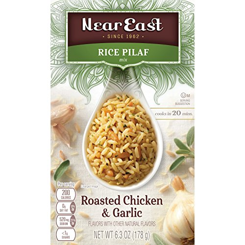 Garlic Chicken - Near East Rice Pilaf Mix, Roasted Chicken & Garlic (Pack of 12 Boxes)