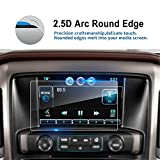 #4: LFOTPP 8 Inch 2014-2018 Chevrolet Silverado 1500 2500HD 3500HD 8 Inch LTZ MyLink Car Navigation Screen Protector, [9H] Tempered Glass Infotainment Center Touch Display Guard