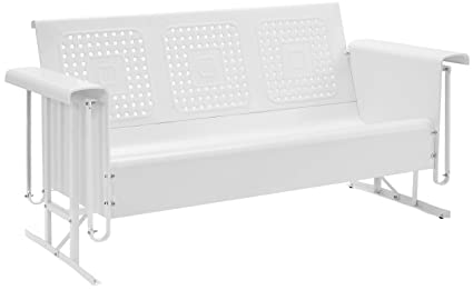 Crosley Furniture Bates Sofa Glider - White