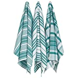 Now Designs Jumbo Pure Kitchen Towel Set of Three, Peacock Green (2016529)