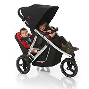 PHIL & TEDS Vibe 2 Stroller & Double Kit - Black/Red