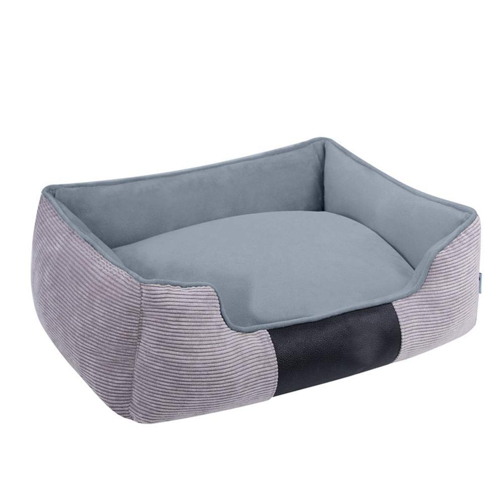 Jack's Us Small Shop Corduroy Kennel Pet Nest Large Medium and Small Dog Bed Easy to Clean (Color, Size : L) by Jack's Us Small Shop