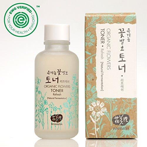 Whamisa Organic Flowers Skin Toner - Refresh 120ml - Naturally fermented, EWG Verified